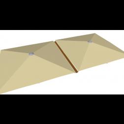 Raingutter PVC 500cm Taupe