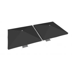 Raingutter PVC 400cm Grey