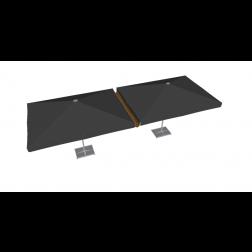 Raingutter PVC 300cm Taupe