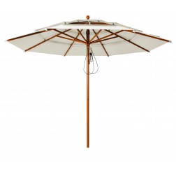 Lasagna Pro parasol Pearl White (ø330cm)