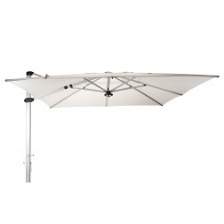 Palestro Pro cantilever parasol Pearl White (400*400cm)