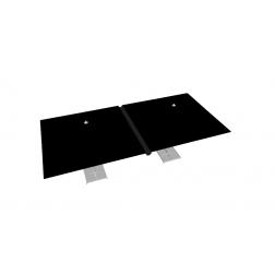 Raingutter PVC 330cm Black